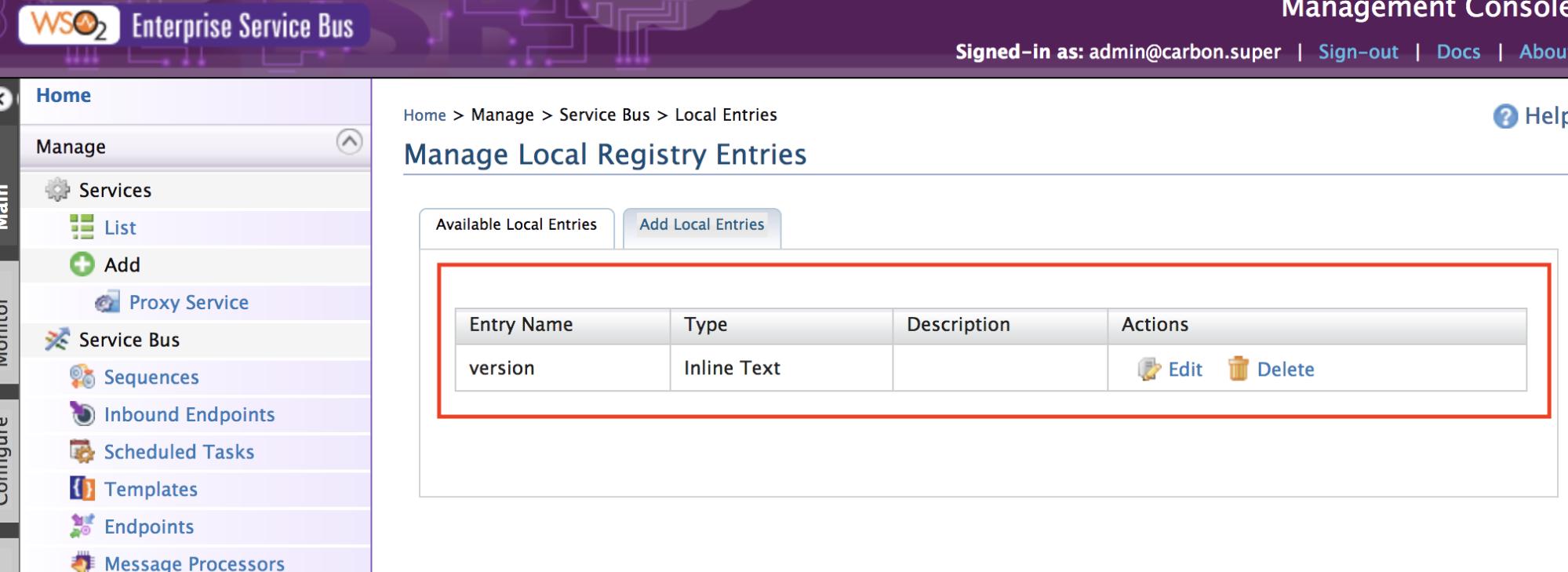 local register wso2