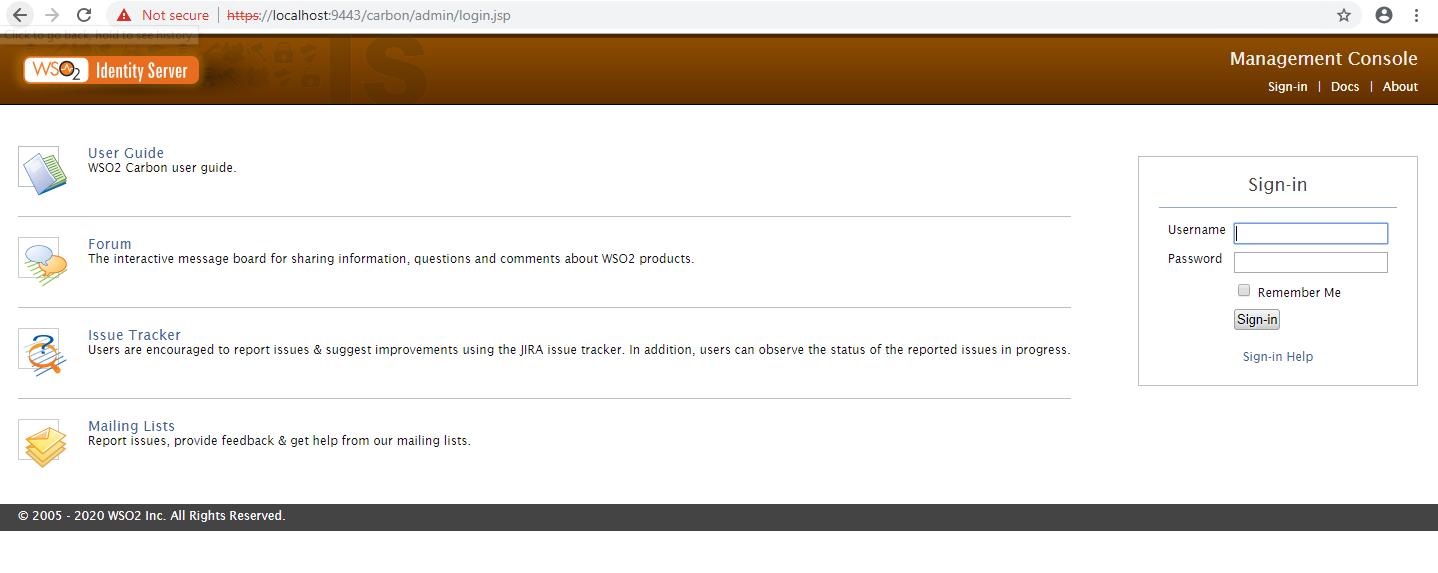 creación usuario en WSO2 Identity Server